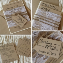 Adler-Cook Wedding Invitations